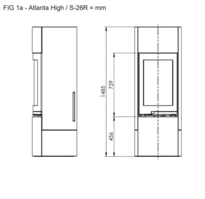 Židinys Nordpeis Atlanta H